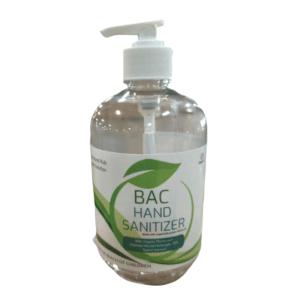 bac hand sanitizer pump