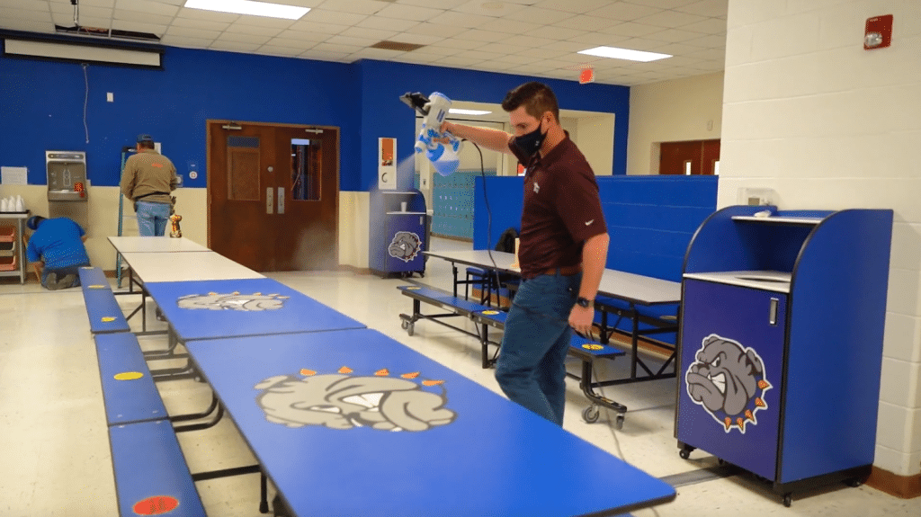 Electrostatic Sprayers Disinfect School.png